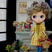 [完成品/Pre-order]  ボヌール ハーブス スタッフドレス (黄色) / Bonheur Herbes staff dress (  Yellow color)