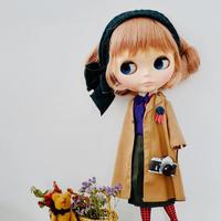 DIY コットン テーラードコート(茶色)キット