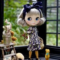 [完成品/Pre-order]  ボヌール ハーブス スタッフドレス (紫色) / Bonheur Herbes staff dress (  Purple color)