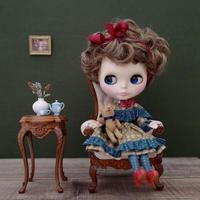 [完成品]  ハーバルドレス(ベージュブラウン x ブルー) / Herbal dress ( Beige brown x Blue color)
