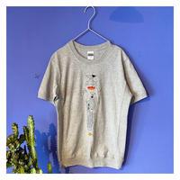【カレーレシピ刺繍Tとシャツ グレー】8周年記念