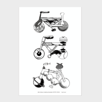 Teppei Kaneuji 'Bike-riding is sculpting cityscape' poster