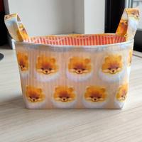 布バスケット( 小サイズ・ポメラニアン)