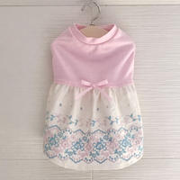 S・ワンコ服・シャインクール&刺繍ワンピ(Sサイズ)