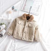unisex corduroyboa jacket beige