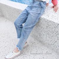 裾アシメdenim pants