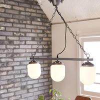 COARSE MILK GLASS_3BULB PENDANT LAMP