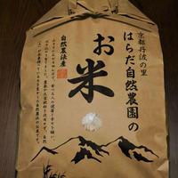 白米/胚芽残10kg(令和元年産・自然農法無農薬栽培切り替え2年目・胚芽を残して精米・にこまる)