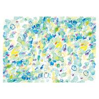 ハラペコラボの包装紙 -moe moe harapecolab peper 2021 Painted by Yuko Ikeda white-(20)