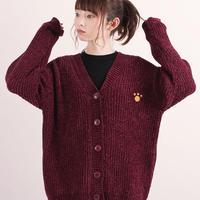 ニット刺繍カーディガン【HP18-04】