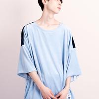 ベロアバイカラーTシャツ【18SS-06】