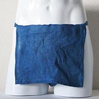 【土佐の草木染め】 室戸産藍染め越中ふんどし リネン