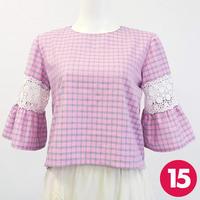【15号】フリル袖トップスA3 PDF型紙