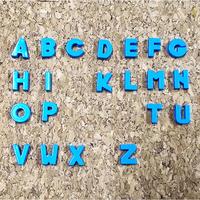 【8mmスライドチャーム】水色アルファベット