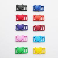 猫のプラスチックバックル10mm用の色とりどり10個セット