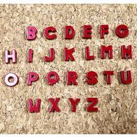 【8mmスライドチャーム】赤アルファベット