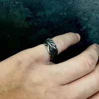 【予約】HARIM  Owl Feather ring SMALL SV