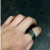 【予約】HARIM  Owl Feather ring SV