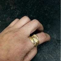 【予約】HARIM  Owl Feather Ring GP