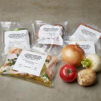 【予約販売】極上ワンパンキャンプ飯ミールキット 『鶏手羽元と季節野菜のトマト煮』 2名用