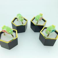 ウミウシピンキーリングオリジナルカラー黄緑(オパール粉末入り)