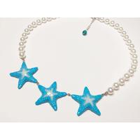 star fish ネックレス  水色