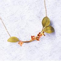 布花金木犀ネックレス(チェーン約45cm)