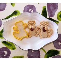 レオパスタンプクッキー型  抱っこ