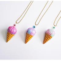 脳みそアイスクリーム 目玉トッピング ネックレス(チェーン約60cm)