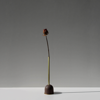 FUNNEL bud vase / L  / Walnut