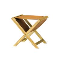 TRINAL stool / Leather / Ash