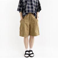 【2021春夏】COTTON/LINEN HERRINGBONE GARDEN SHORT PANTS(綿麻ヘリンボン ガーデンショーツ)A12113