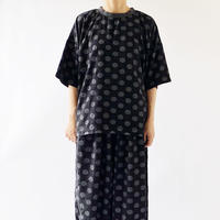 DOT PRINTED SHORT SLEEVES PULLOVER(ドット柄半袖プルオーバー) A32007