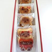 クマのマドレーヌ詰め合わせ(4個入)