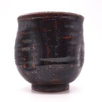 つるつる湯呑みその1・陶器の花川焼