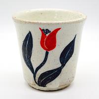 花柄湯呑みその4・陶器の花川焼