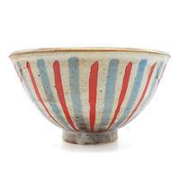 ストライプ茶碗その2・陶器の花川焼
