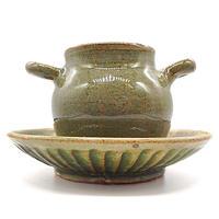 スープカップ&ソーサー・陶器の花川焼