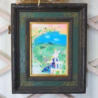 「花のPoem」油絵