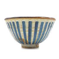 ストライプ茶碗その1・陶器の花川焼