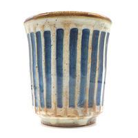 ストライプフリーカップ・陶器の花川焼