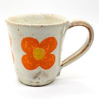 花柄マグカップその2・陶器の花川焼