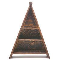 三角形飾り棚その1・屋久杉木工品
