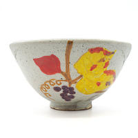 花柄茶碗その1・陶器の花川焼