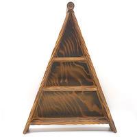 三角形飾り棚その2・屋久杉木工品