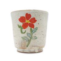 花柄湯呑みその3・陶器の花川焼