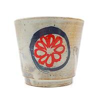 花柄湯呑みその2・陶器の花川焼