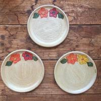 メキシコ・オアハカ州アソンパ村 の陶器 3枚セット