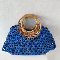 ベトナム製ハンドバッグ(ブルー)