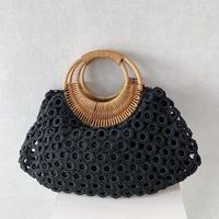 ベトナム製ハンドバッグ(ブラック)